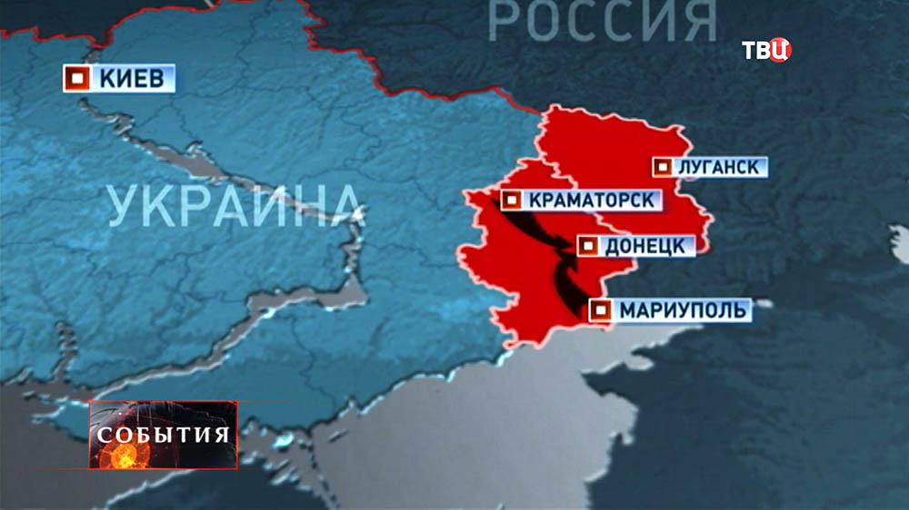 Карта военных действий в Украине