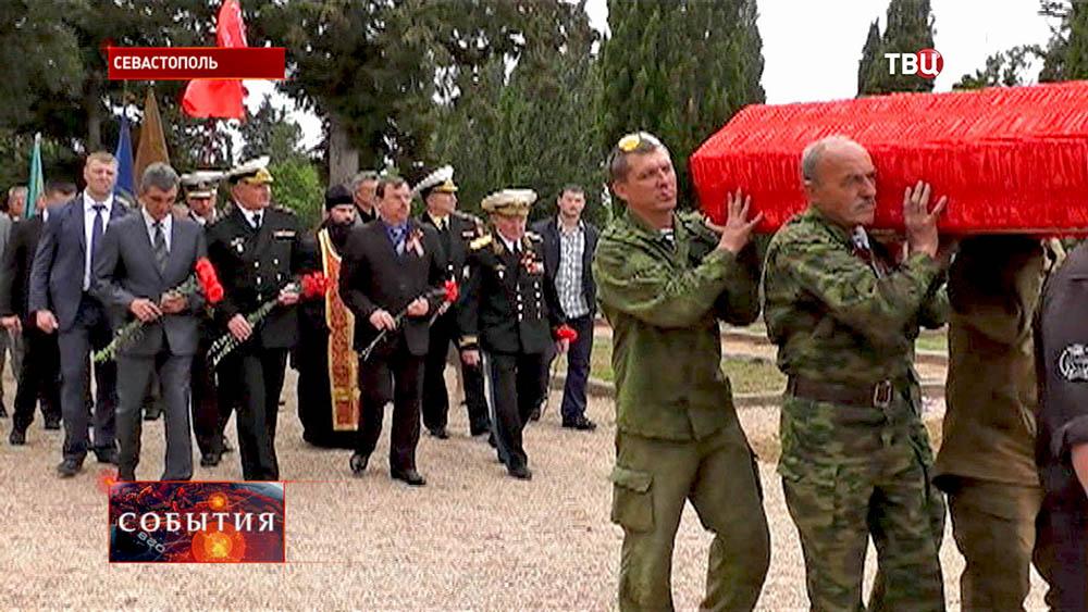 В Севастополе на мемориальном кладбище перезахоронены останки 98 солдат