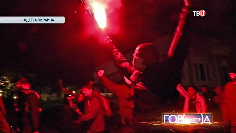 """Марш радикалов """"Правого сектора"""" в Одессе"""