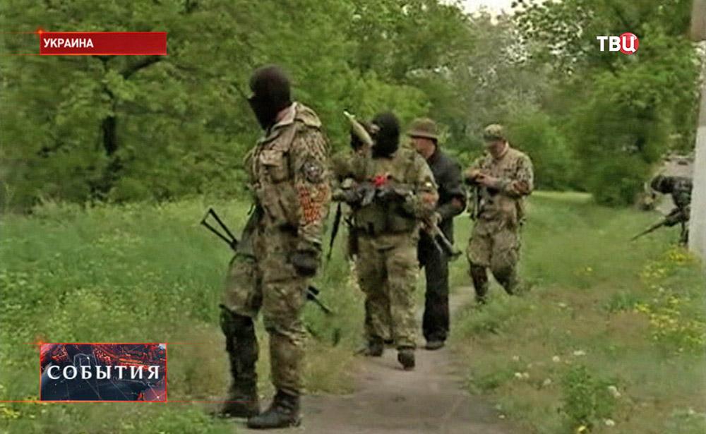 Бойцы самообороны Донбасса