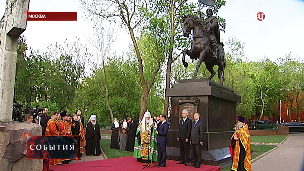 Освящение памятника Дмитрию Донскому
