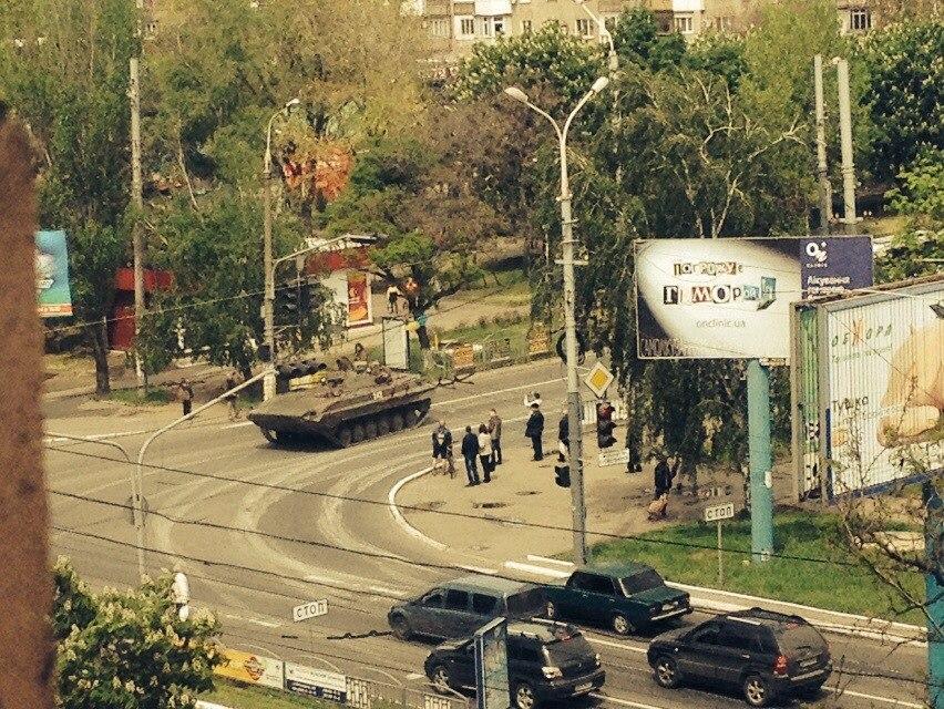 СМИ: в Мариуполь вошли танки. Фото: vk.com