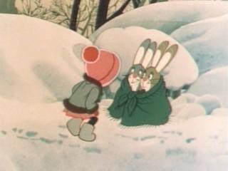 """Мультфильм. """"Девочка и зайцы"""""""