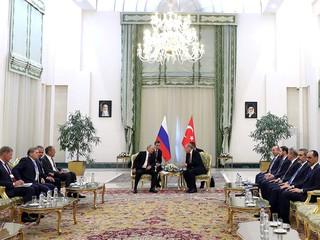 Владимир Путин и Президент Турции Реджеп Тайип Эрдоган