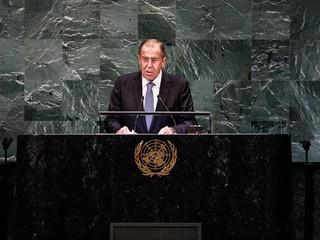 Глава МИД России Сергей Лавров на Генассамблее ООН