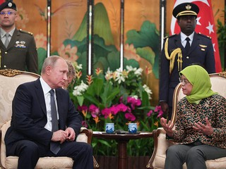 Владимир Путин и президент Сингапура Халима Якоб