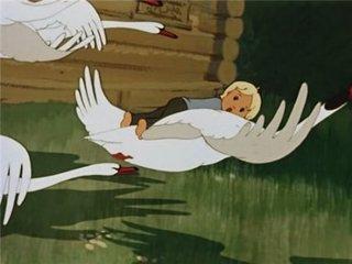 Мультфильм. Гуси-лебеди