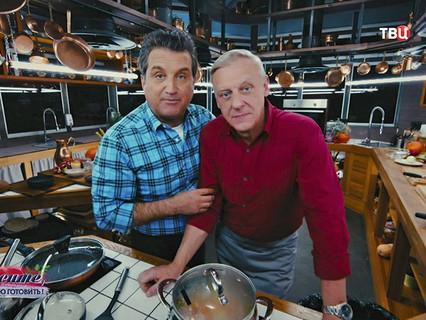 Отар Кушанашвили с Александром Половцевым, который рассказал зрителям, как в 60 лет быть идеальным отцом, мужем и… любовником!