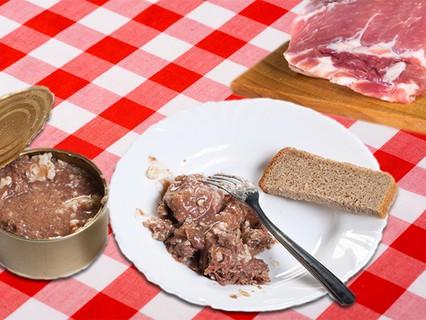 Тушёнка против мяса